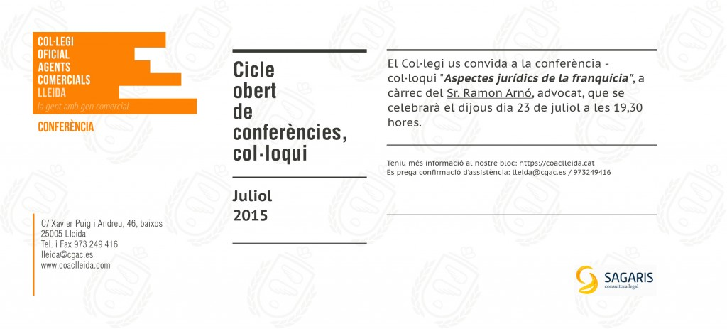 Conferència - col·loqui