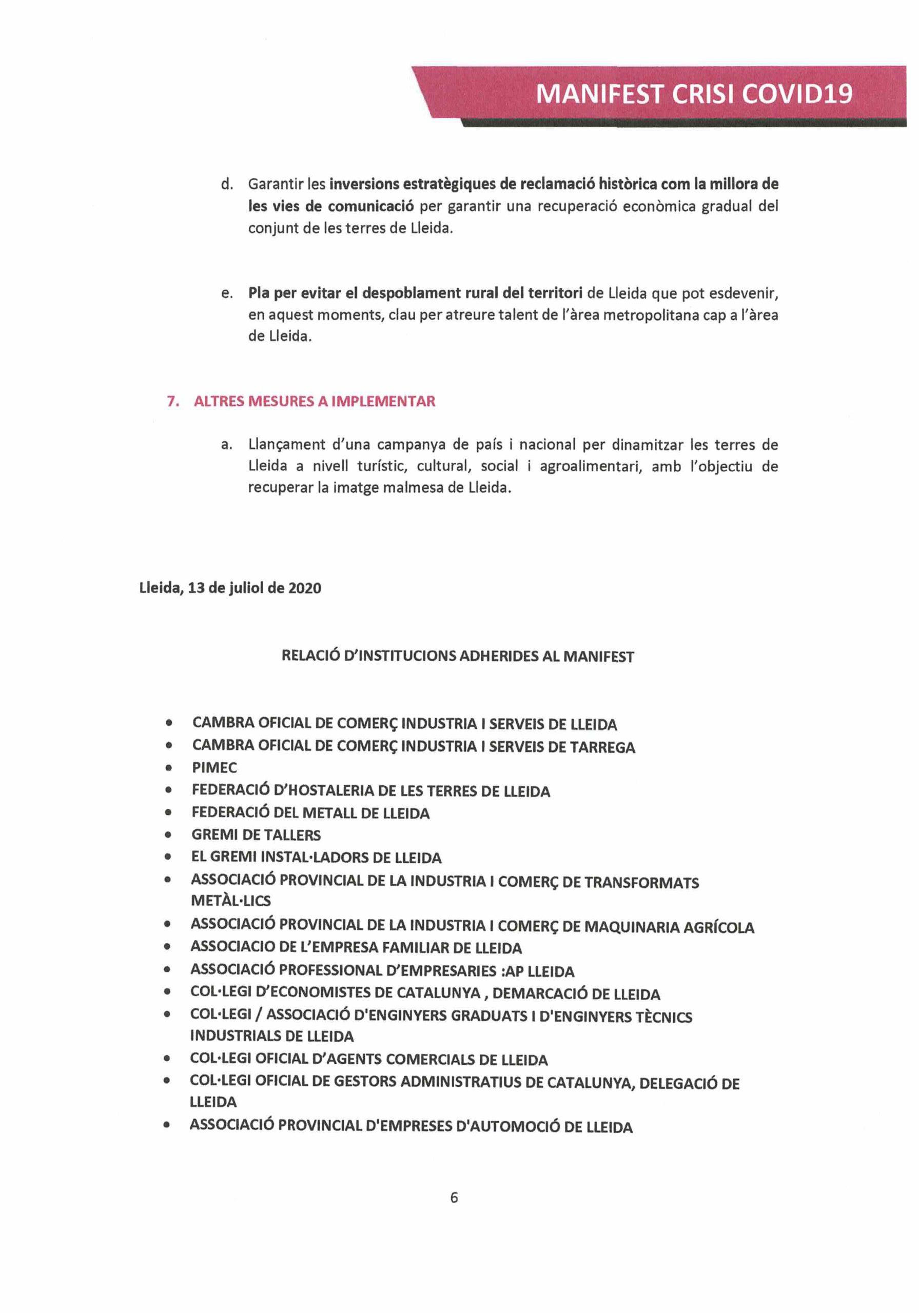 Manifest Col·legis Professionals